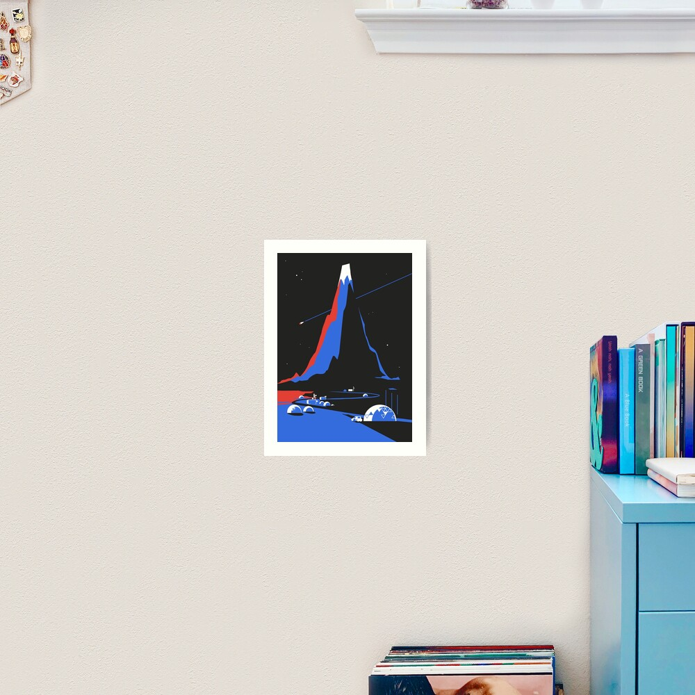 Asteroid FlyBy Art Print
