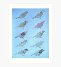 Wordy Birdies Art Print