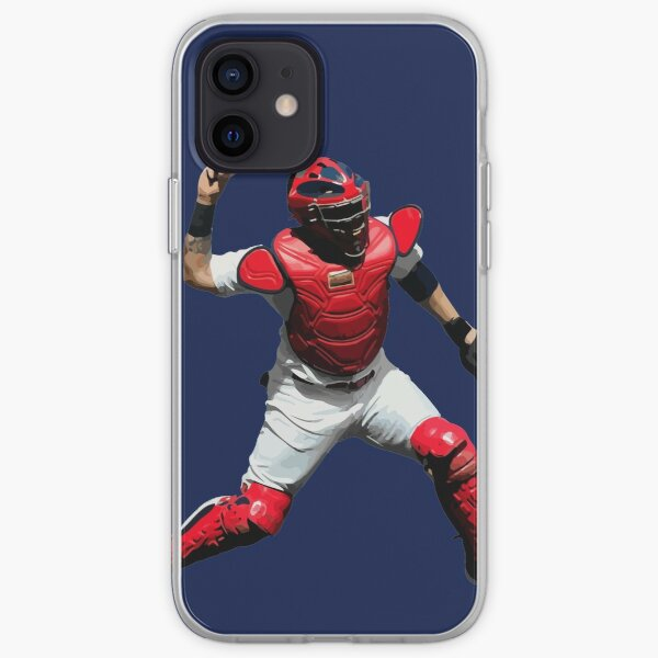 Yadier Molina of the St. Louis Cardinals Illustration iPhone Soft Case