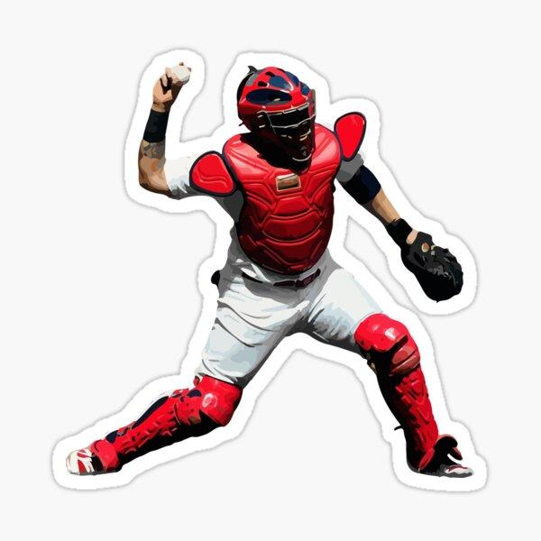 Yadier Molina of the St. Louis Cardinals Illustration Sticker