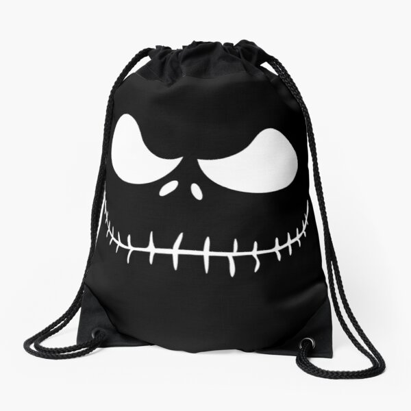 Skellington White Drawstring Bag