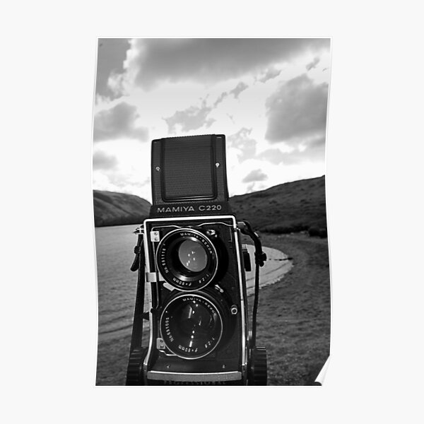 Mamiya C220 on Location. Poster
