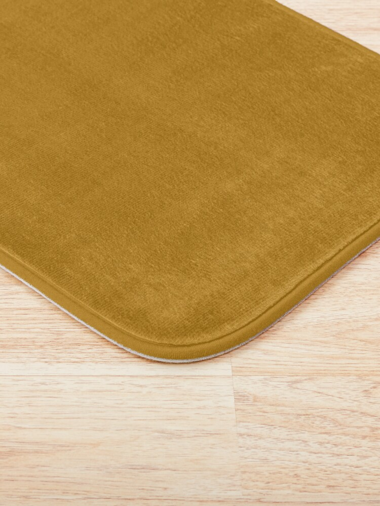 Alternate view of Best Seller Golden Mustard Yellow Solid Color Pairs with Sherwin Williams Auric Gold SW 6692 Bath Mat