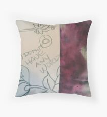 No Words:  DisCo Challenge First reveal 1  Throw Pillow