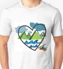 Traveling Heart Unisex T-Shirt