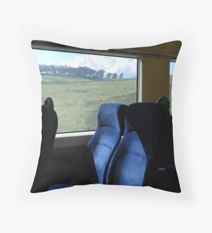 View from a speeding train Throw Pillow