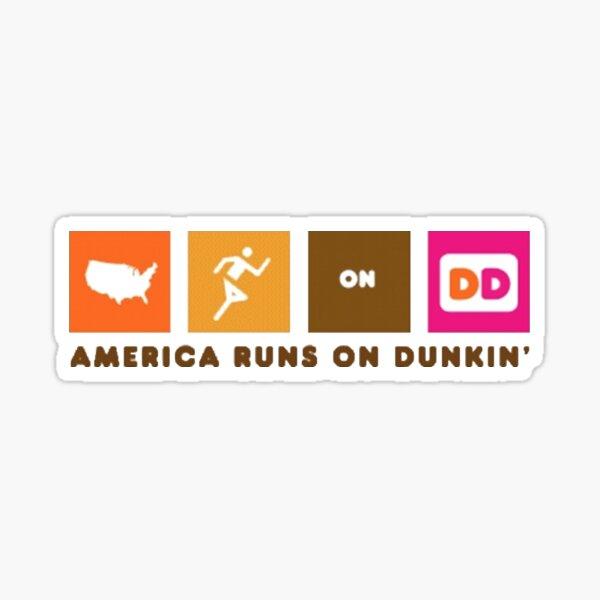 América corre sobre Dunkin Pegatina