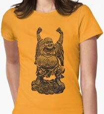 Happy Buddha | Starry Night Women's Fitted T-Shirt