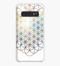 Herz der Orion Blume des Lebens | Heilige Geometrie Hülle & Klebefolie für Samsung Galaxy