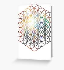 Heart of Orion Flower of Life | Sacred Geometry Greeting Card