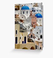 Santorini Morning Greeting Card