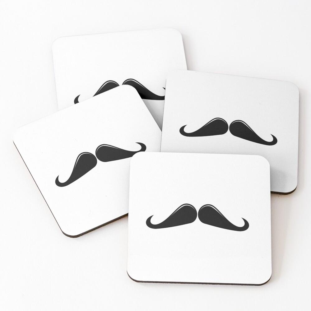 Ringmaster Moustache Coasters (Set of 4)