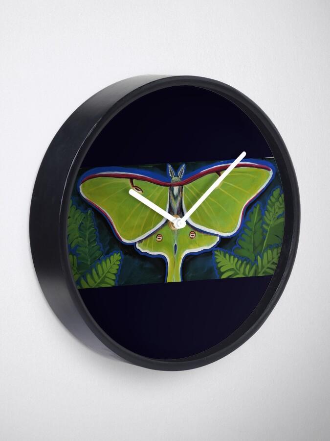 Alternate view of Luna Moth Clock