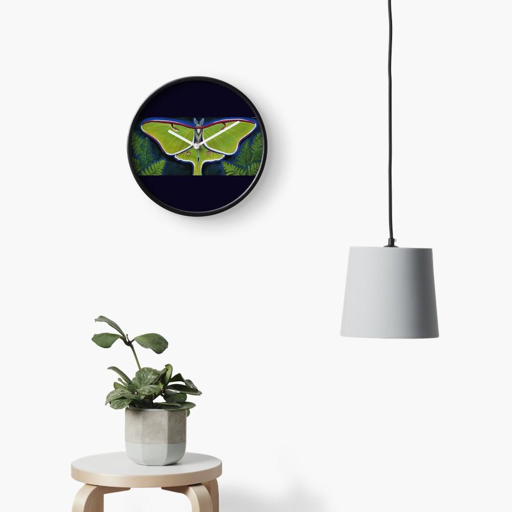 Luna Moth Clock
