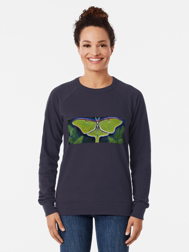 Alternate view of Luna Moth Lightweight Sweatshirt