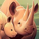 Black Rhino by Tami Wicinas