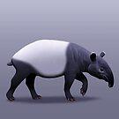 Malayan Tapir by Tami Wicinas