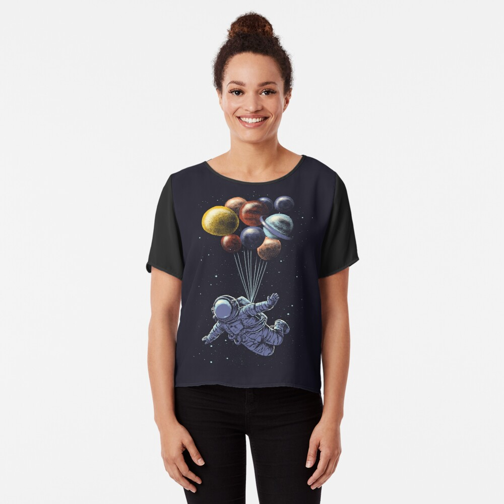 Space Travel Chiffon Top