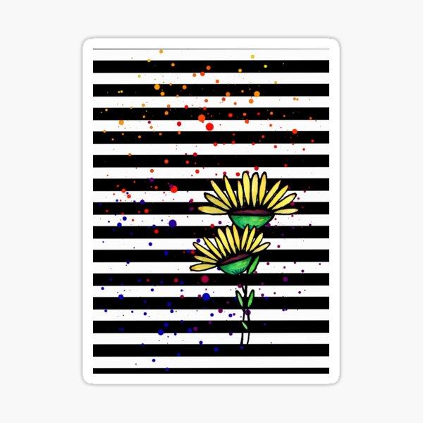 Daffodils and Stripes Sticker