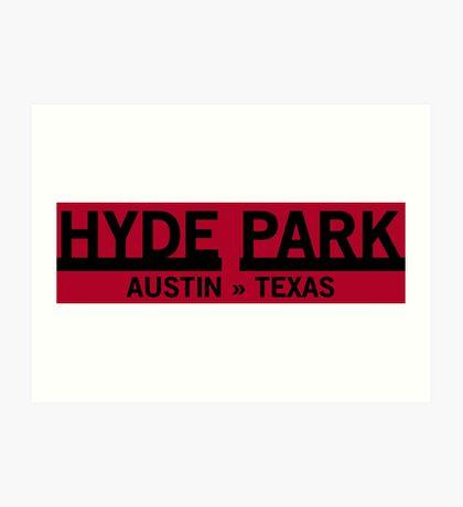 Hyde Park - Austin, Texas Art Print