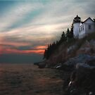Bass Harbor Sunset by Lori Deiter