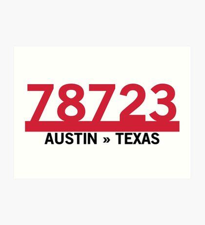 78723 - Austin, Texas ZIP Code Art Print