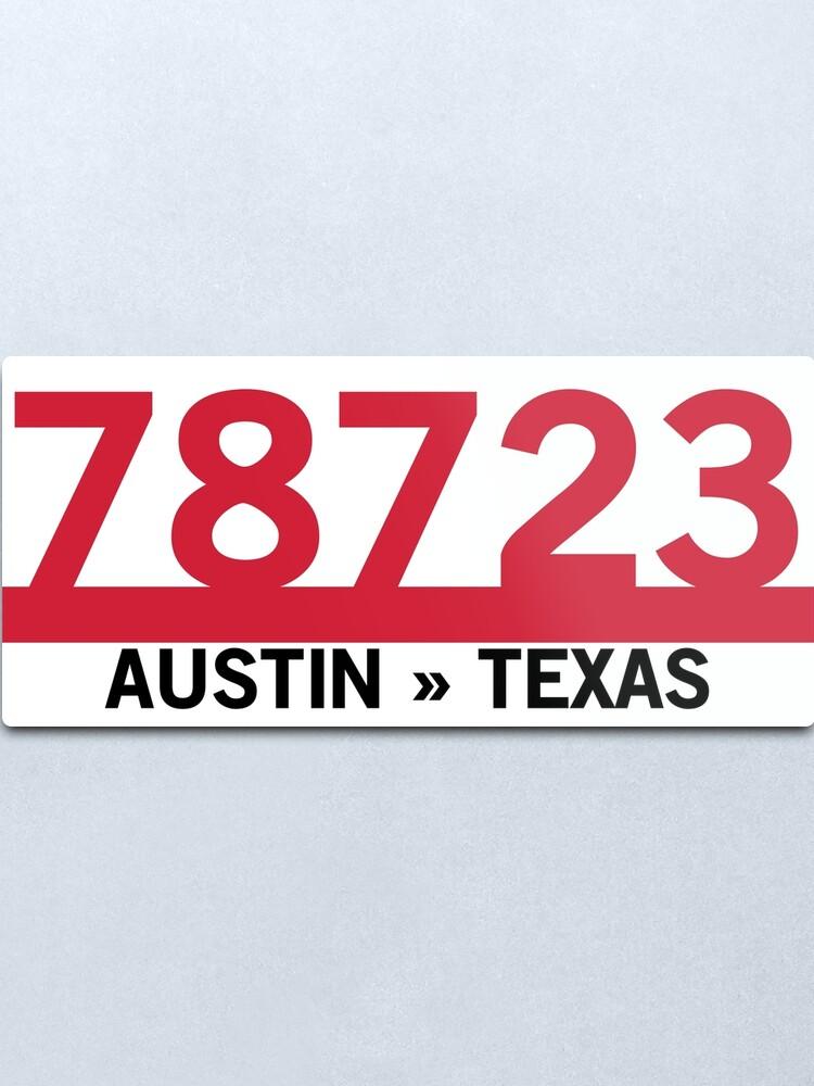 Alternate view of 78723 - Austin, Texas ZIP Code Metal Print