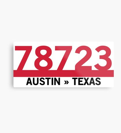 78723 - Austin, Texas ZIP Code Metal Print