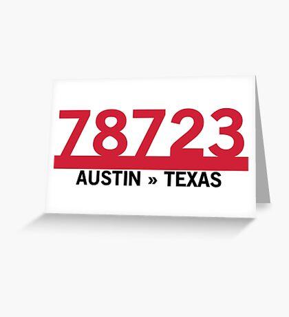 78723 - Austin, Texas ZIP Code Greeting Card