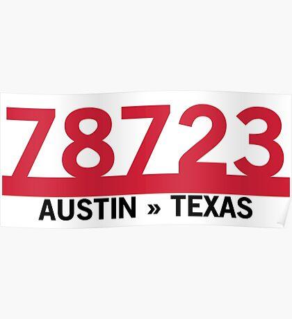 78723 - Austin, Texas ZIP Code Poster