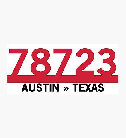 78723 - Austin, Texas ZIP Code Photographic Print