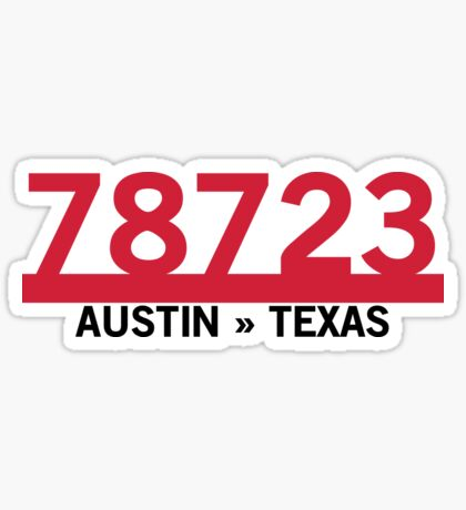 78723 - Austin, Texas ZIP Code Glossy Sticker