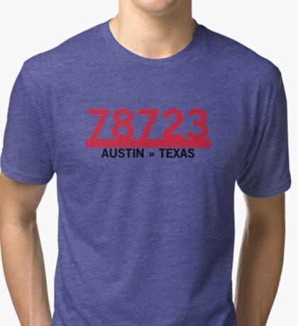 78723 - Austin, Texas ZIP Code Tri-blend T-Shirt