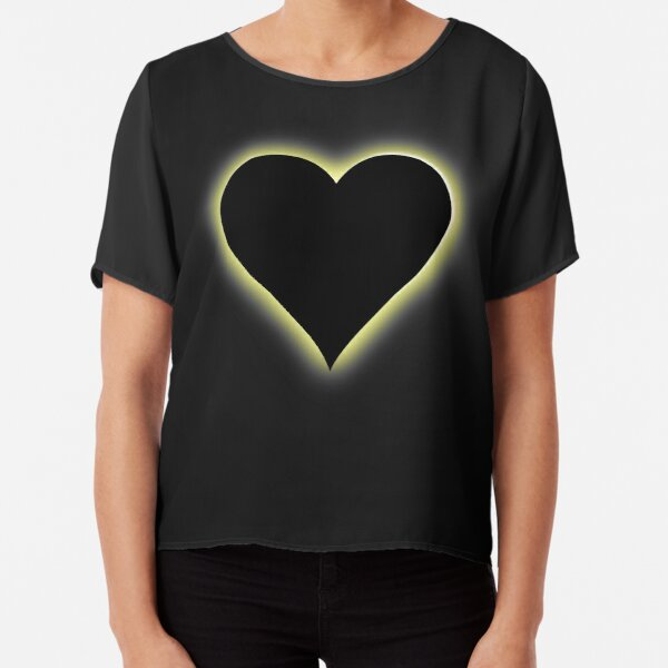 Valentines Night Sky Total Eclipse Of The Heart Chiffon Top