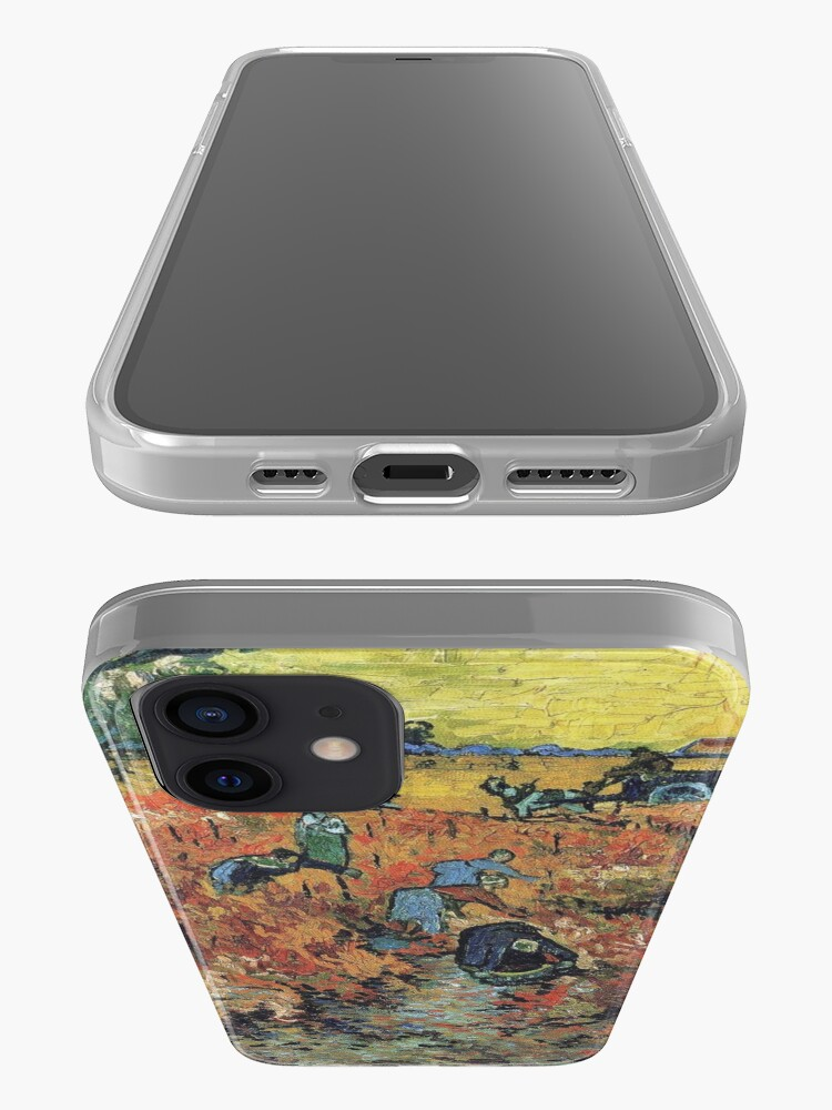 Alternate view of The Red Vineyards Oil Painting on Burlap by Vincent van Gogh iPhone Case & Cover