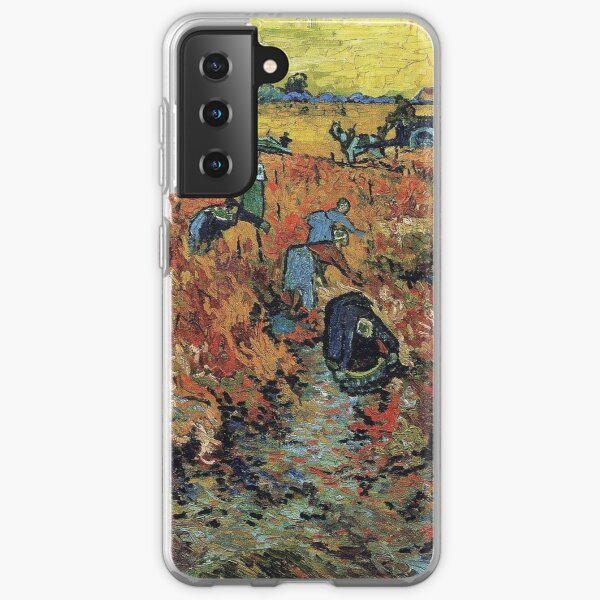 The Red Vineyards Oil Painting on Burlap by Vincent van Gogh Samsung Galaxy Soft Case