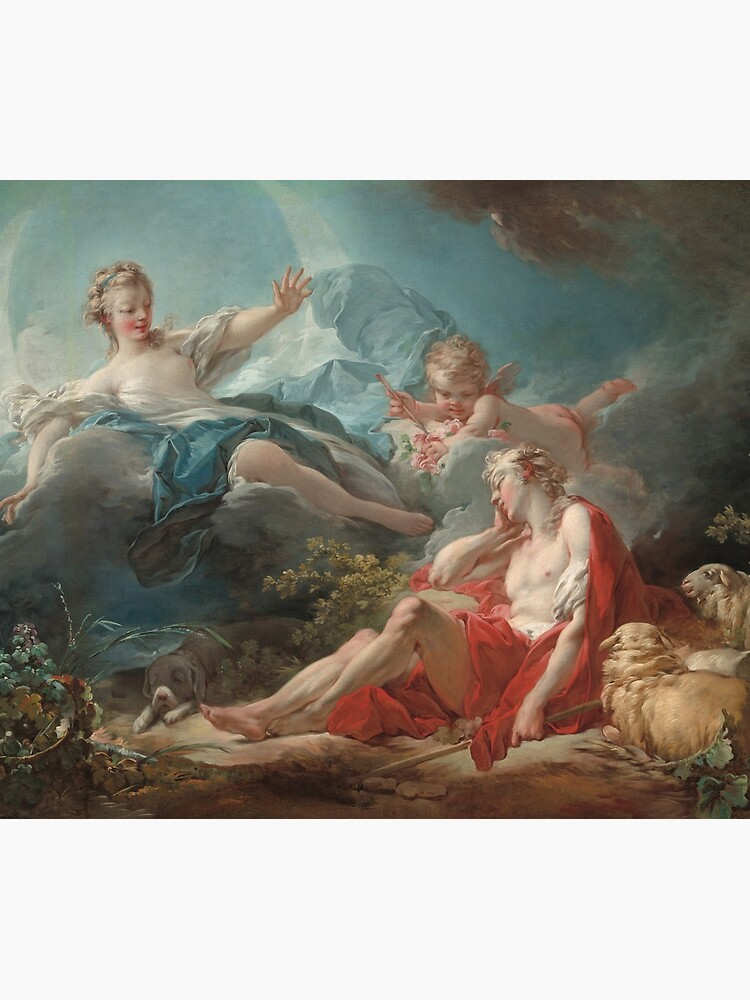 Diana and Endymion Oil Painting by Jean-Honoré Fragonard by podartist