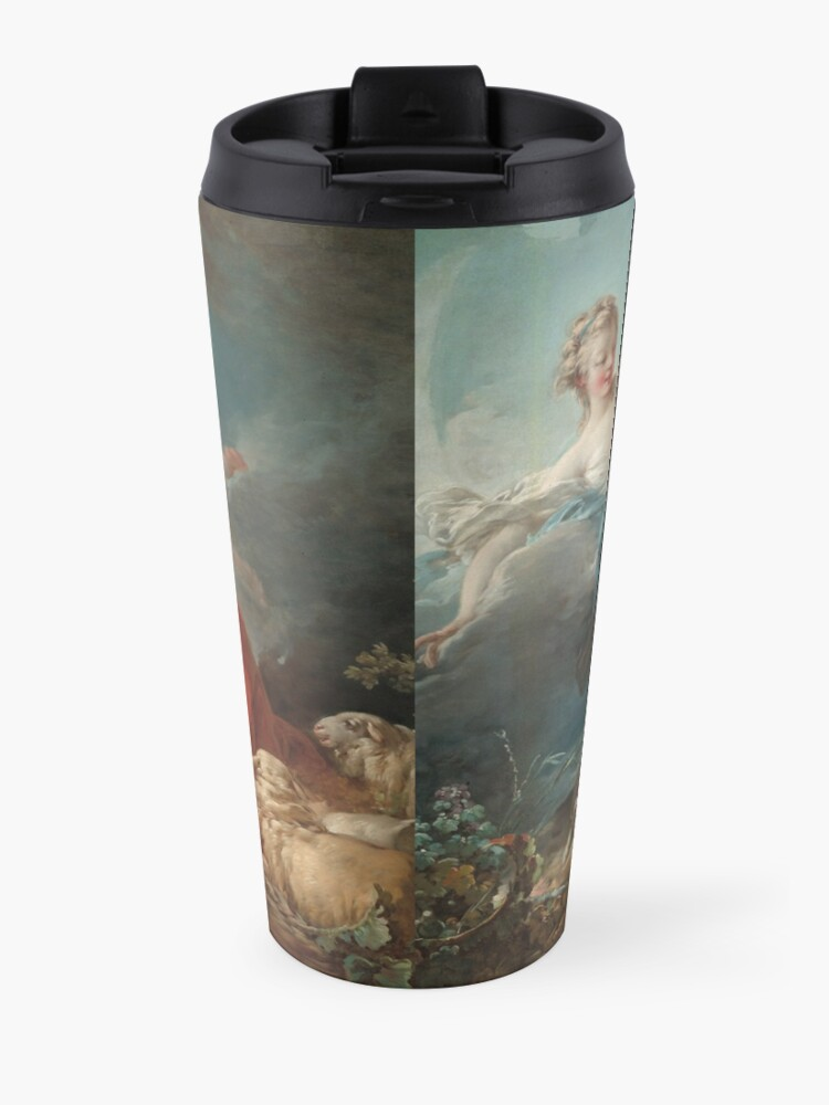 Alternate view of Diana and Endymion Oil Painting by Jean-Honoré Fragonard Travel Mug