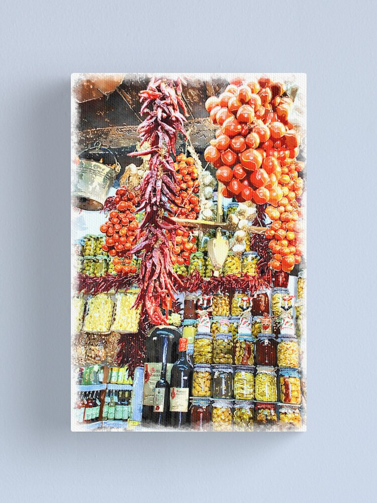 Alternate view of Italian shop Canvas Print