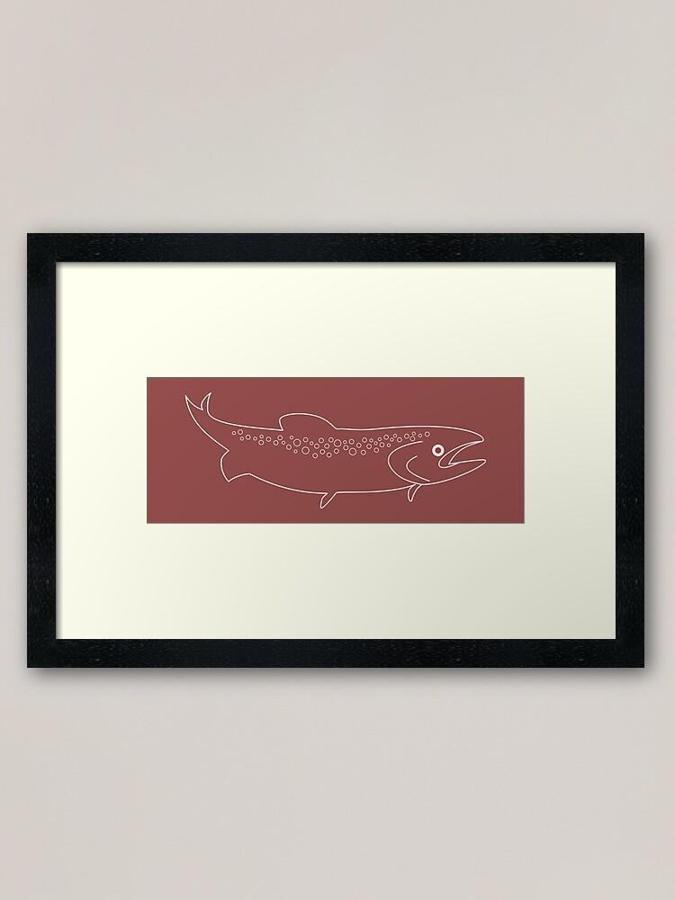 Alternate view of Fish Framed Art Print