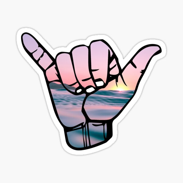Hang Loose with Sunset Sticker