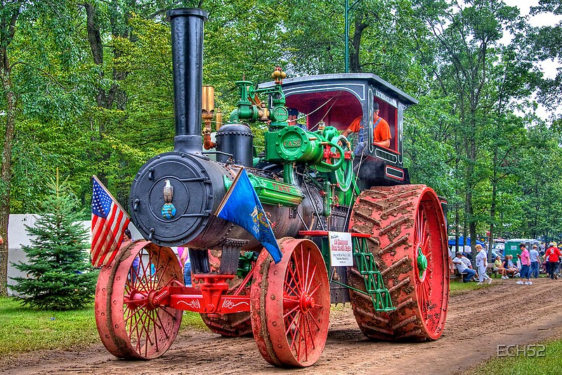 Case Tractor Posters : Quot hp case steam tractor posters by ech redbubble