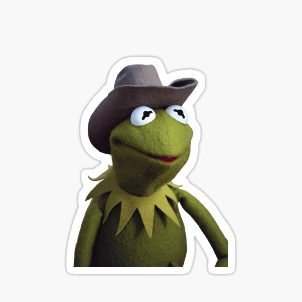 Kermit Cowboy Sticker