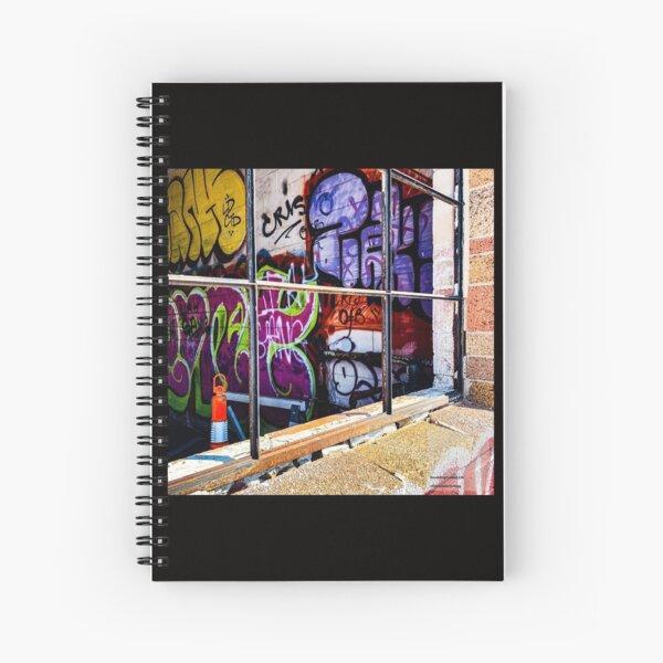 1192 Grafitti Window Spiral Notebook