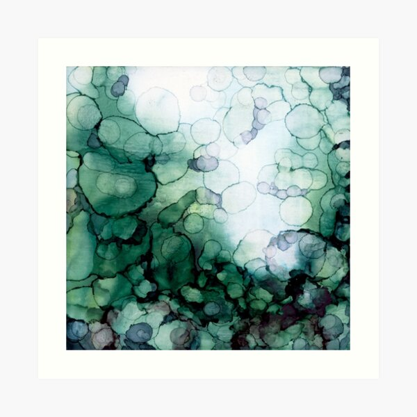 Abstract Green Dreamscape Art Print