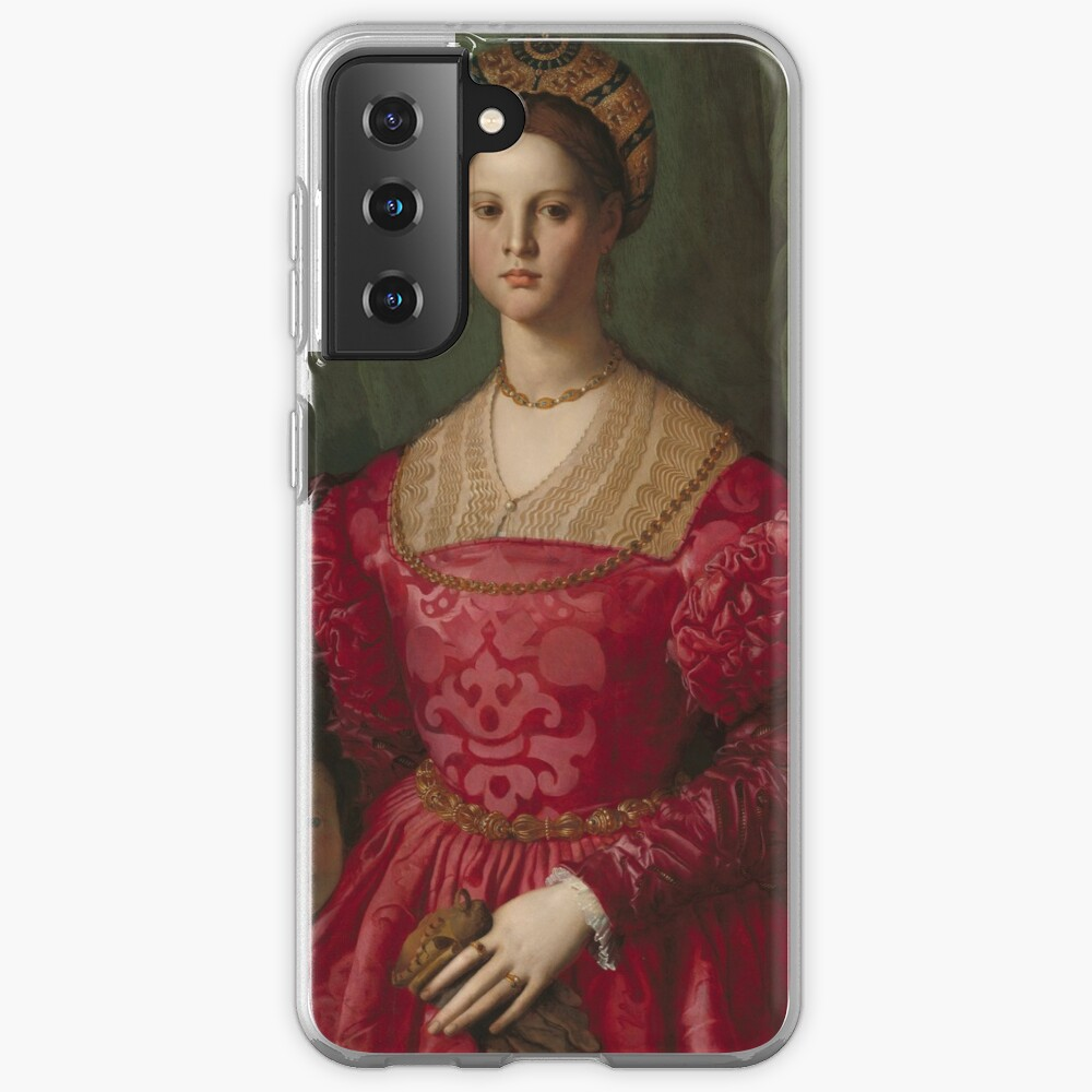 A Young Woman and Her Little Boy Oil Painting by Agnolo Bronzino Case & Skin for Samsung Galaxy