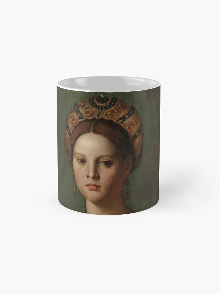 Alternate view of   A Young Woman and Her Little Boy Oil Painting by Agnolo Bronzino Mug