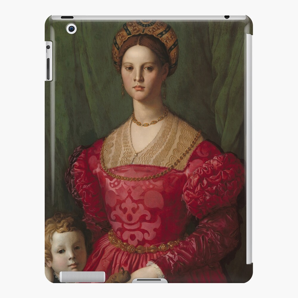 A Young Woman and Her Little Boy Oil Painting by Agnolo Bronzino iPad Case & Skin