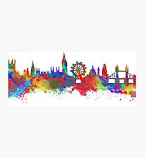 Watercolor art print of the skyline of London Photographic Print