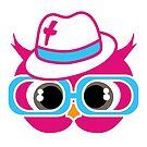 Pink Christian Swag Owl by Kasey Hodges
